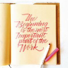 The beginning isbthe most important part of the work #calligrafikas #grafikas…