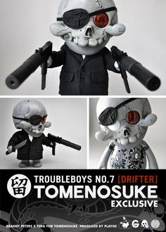 Release of SQUADT 'TroubleBoys no.7 [DRIFTER]' - Tomenosuke Special by Brand Peters x FERG - available today! £95