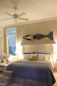The Mermaid Sculpture by Iron Fish Art artist, Chase Allen, adds the perfect touch to a bedroom!