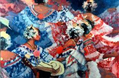 """""""Many Dancers"""", oil by Al Sprague.  One of Al Sprague's favorite paintings"""