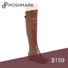 """Gorgeous Genuine Tall Leather Boots by Matisse These gorgeous, supple, tall leather boots by Matisse are perfect for pairing with skinny jeans, dresses, or even shorts-whatever you prefer! This beautiful cognac color goes with virtually every color & adds a sexy element when paired with black. These are new with box.  -Almond toe - Side partial zip closure - Back goring and adjustable buckle strap detail - Approx. 20"""" shaft height, 15"""" opening circumference - Approx. 2"""" heel Matisse Shoes…"""
