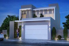 House Front Design, Modern House Design, Dream House Plans, Modern House Plans, Modern Garage, House Elevation, Modern Architecture House, Facade House, Model Homes