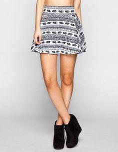 FULL TILT Elephant Print Skater Skirt