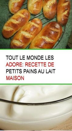 Tout le monde les adore: recette de petits pains au lait maison Baguette, Cooking Bread, Hot Dog Buns, Biscuits, Pancakes, French Toast, Muffins, Food And Drink, Nutrition