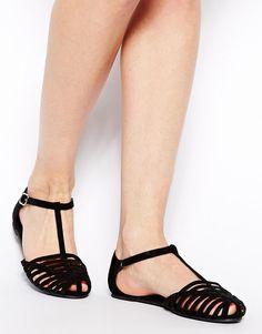 ASOS | ASOS JUNIPER T-Bar Flat Shoes at ASOS