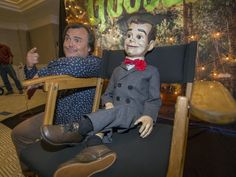 Slappy the Dummy and Jack Black- Goosebumps Movie 2015
