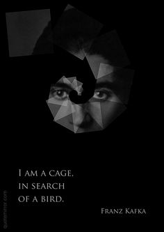 I am a cage,  in search   of a bird.  –Franz Kafka #purpose #search http://www.quotemirror.com/quotes/im-a-cage/