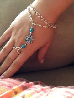 Slave bracelet, ring bracelet, bracelet ring on Etsy, $17.00