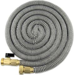 75' Expanding Hose Titan Expandable Garden Hose Solid Brass Connectors Double Layer Latex Core Extra Strength Fabric 3/4 USA Standard Expandable Hose