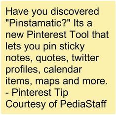 "New Pinterest Tool, ""Pinstamatic"" - -  Pinned by @PediaStaff – Please Visit http://ht.ly/63sNt for all our pediatric therapy pins"