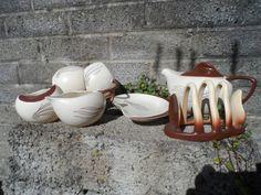 Vintage ceramic breakfast set for 2  vintage by EmpireAntiques