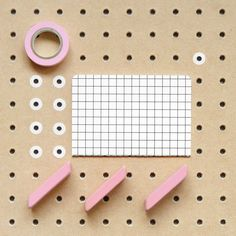 Abstract compositions using office and stationery items. By Present & Correct.