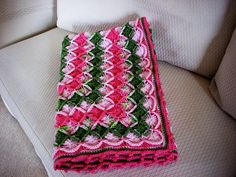 Crochet Bavarian Stitch Baby Blanket