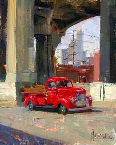 Bill's Pick Up by Jennifer McChristian Oil ~ 9 x 7