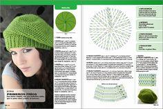 Beret Crochet Pattern para fácil e rápido. Bonnet Crochet, Crochet Beret, Crochet Diy, Crochet Baby Hats, Crochet Slippers, Irish Crochet, Crochet Clothes, Knitted Hats, Crochet Diagram