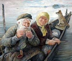 Зимой особенно хочется летать.... Художник Леонид Баранов: vasily_sergeev