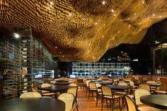 arquitetos associados suspends 80,000 dowels within olga nur restaurant