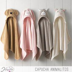 Capucha Animalitos  Para que los más pequeños se diviertan. Una salida de baño con capucha de animales. ...