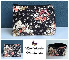 Made by Lindabears Handmade Makeup Purse