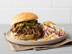 Southwestern Pulled Brisket Sandwiches recipe from Food Network Kitchen via Food Network