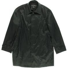 Lauren Ralph Lauren 6589 Mens Black Solid Packable Raincoat Jacket L BHFO