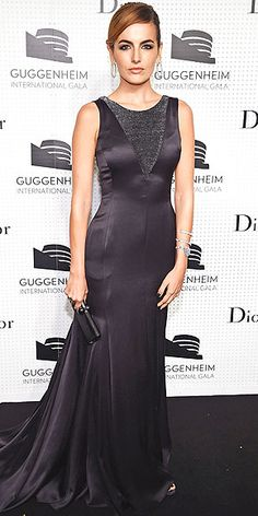 For the Guggenheim International Gala Dinner in N.Y.C., the actress opts for the polar opposite of her dreamy bright choice from last week and picks a dark Dior silk gown. Her dazzling Chopard jewels, however, remain consistent.