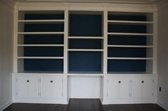 Under $400 bucks, DIY built in bookshelf/bookcase.
