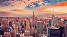 Desktop Wallpaper Empire State Building Buildings Skyscrapers New York City Sunset Hd Image Picture Background New York Wallpaper, Mac Wallpaper, Aesthetic Desktop Wallpaper, City Wallpaper, Sunset Wallpaper, Computer Wallpaper, Desktop Wallpapers, City Photography, Aerial Photography