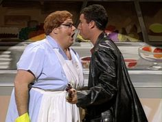 Saturday Night Live: Adam Sandler and Chris Farley in Lunch Lady #SNL