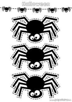 Schablonen-Spinne-Halloween-Print-and-Trim – Halloween Party Halloween Infantil, Dulceros Halloween, Moldes Halloween, Manualidades Halloween, Adornos Halloween, Halloween Prints, Halloween Pictures, Outdoor Halloween, Holidays Halloween