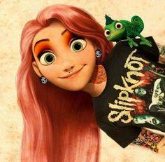 Disney-figuren maar dan met tatoeages, piercings en punk t-shirts   NSMBL.nl