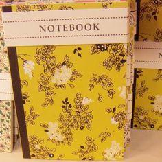 rosehip notebook via print & pattern