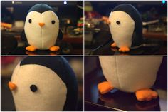 Felt Penguin Plushie by ~katrivsor on deviantART