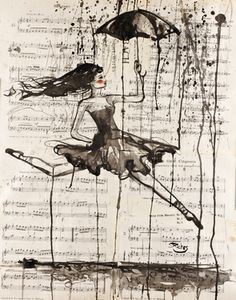 "Saatchi Online Artist Sara Riches; Drawing, ""She Needs To Dance"" #art"