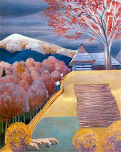 Rafal Malczewski (Polish painter, View from the Kopieniec Cyrhli Great 1927 Kunst Online, Online Art, Map Art, Art Museum, Poland, Portrait, World, Amazing, Artwork