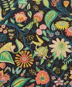 Liberty Art Fabrics Tree of Eden A Tana Lawn Cotton Textile Patterns, Textile Prints, Cool Patterns, Print Patterns, Textiles, Surface Pattern Design, Pattern Art, Liberty Tree, Liberty Scarf
