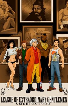 Top Shelf Announces 'League of Extraordinary Gentlemen: 1988'' - ComicsAlliance | Comic book culture, news, humor, commentary, and reviews.     Dude SWEET!! Mr. T., Doc Brown, MacGuyver, Jack Burton, and  LISA!!! TOO FRAKKING COOL!!!!
