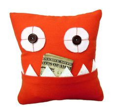 Orange Tooth Fairy Pillow - Oh this is so amazing and would prolly be much easier then a regular pillow! Can't wait to be the toothfairy ;)