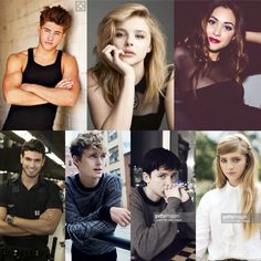 My ideal cast for TDA. From top right: Julian, Emma, Cristina, Perfect Diego, Mark, Ty, and Livvy