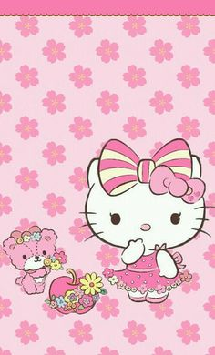 Image via We Heart It https://weheartit.com/entry/145199350/via/22479432 #cute #hellokitty #pink #wallpaper