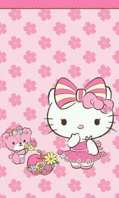 Image via We Heart It https://weheartit.com/entry/145199350/via/22479432 #cute #hellokitty #pink #wallpaper