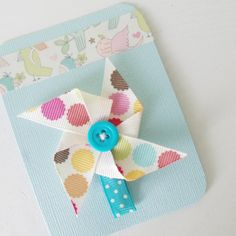 Per cute hairclips for a baby or toddler, perfect for summer.