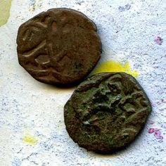 2 UNCLEANED coins from a dig...  antique objects... by CoolVintage, $14.50