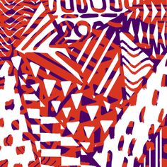 Sarah Bagshaw Purple And Orange Triangles Framed Wall Art Textiles, Textile Patterns, Textile Prints, Textile Design, Color Patterns, Print Patterns, Pattern Design, Shape Design, Triangle Design