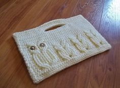 """Crochet Owl Bag. I love this designer!! I've purchased and made her other """"its a hoot"""" patterns!! She is amazing!!"""