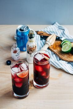 Red Wine Spritzers with Bitters and Lime