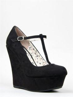 Closed Toe Wedge Heels