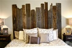 Reclaimed Weathered Siding Headboard - Porter Reclaimed Barn Wood