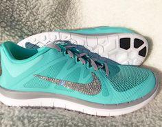 Crystal Nikes By Kicks Glitter - Nike Free 4.0 V4 Hyper Turquoise aeaeff0be87f