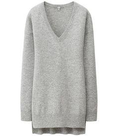 Super Soft Grey Cashmere Sweater